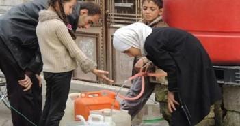 عجز المياه في دمشق بنسبة 30   وفي حلب بنسبة 50