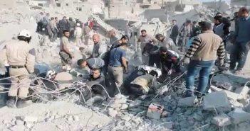 حلب تودع 87 شهيداً سقطوا في يوم واحد بالقصف الروسي