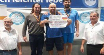 لاجئ سوري يحرز 5 ميداليات في بطولة ألمانيا للإنقاذ