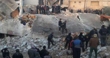الطيران الروسي يرتكب مجزرة مروعة في ريف حلب الغربي