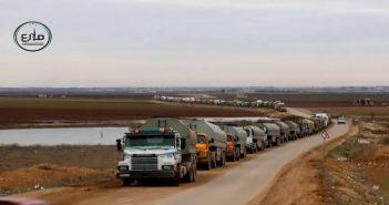 بالفيديو الفصائل تضبط عشرات صهاريج النفط قادمة من مناطق سيطرة الأكراد إلى النظام
