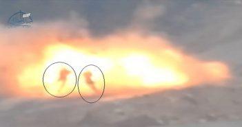 بالفيديو شاهد صاروخ حراري يفتك بمجموعة من قوات الأسد في حلب