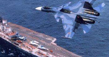 """حاملة الطائرات الروسية """"كوزنيتسوف"""" كانت وصلت إلى المياه الإقليمية السورية"""