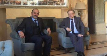 رئيس تيار الغد السوري يستقبل السفير الروسي بمنزله في القاهرة