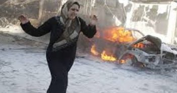 سقوط أكثر من 25 شهيدا بقصف طائرات مجهولة على سرمدا بريف إدلب