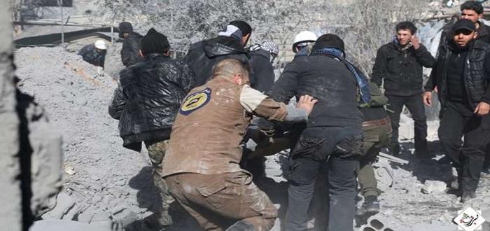 شهداء وجرحى بينهم أطفال ونساء بقصف لطيران الأسد على حي برزة
