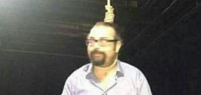 مشهد صادم..مذيع لبناني يشنق نفسه على الهواء وينقل إلى المشفى بحالة خطرة