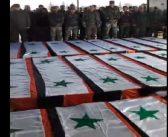 بالفيديو: دفن جنود النظام مجهولي الهوية..أزمة تتفاقم بوجهه وتفتح سخطا كبيرا من مواليه