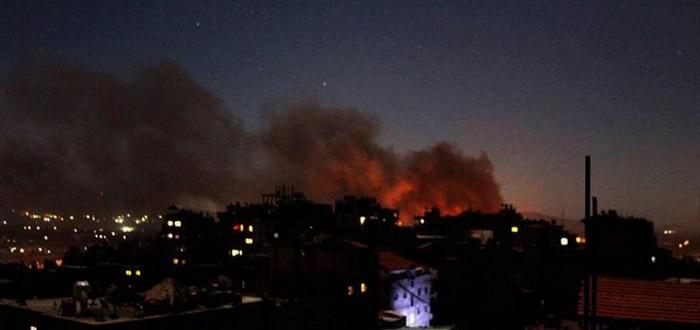 انفجارات قوية بغرفة عمليات في مركز تجمع للقوات الإيرانية جنوبي دمشق