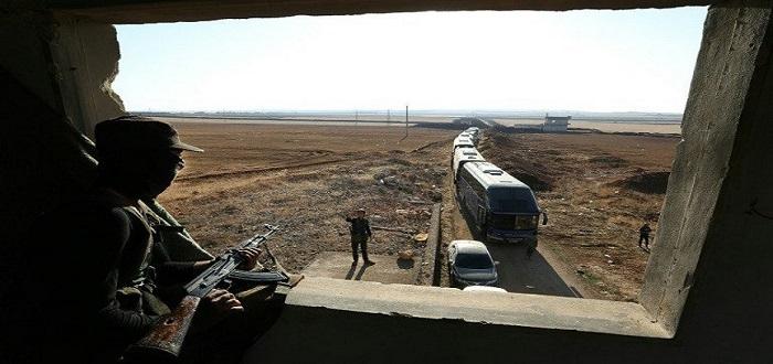 وصول 121 حافلة إلى الفوعة وكفريا لإخلاء المسلحين المولين لنظام الأسد إلى حلب