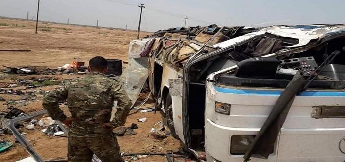 بالصور: انفجار يوقع عشرات القتلى والجرحى من ميليشيا الحشد الشعبي في العراق