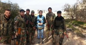نجاة كنانة علوش من انفجار قذيفة هاون في حلب