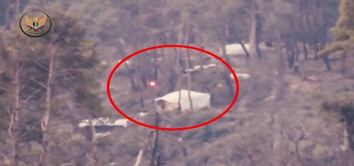 بالفيديو: شاهد مقتل عدد من عناصر قوات الأسد بنسف تجمع لهم بجبل التركمان